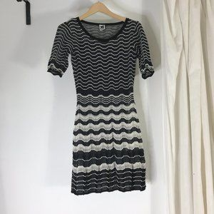 Missoni Chevron Striped Fit & Flare Dress Black